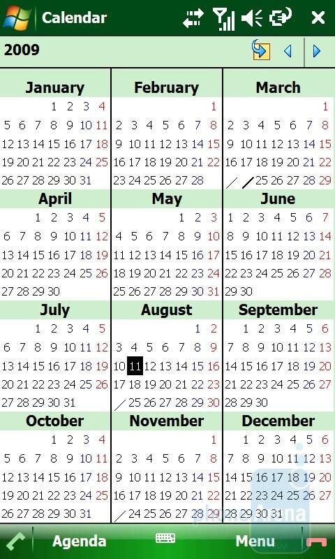 Calendar - Toshiba TG01 Review