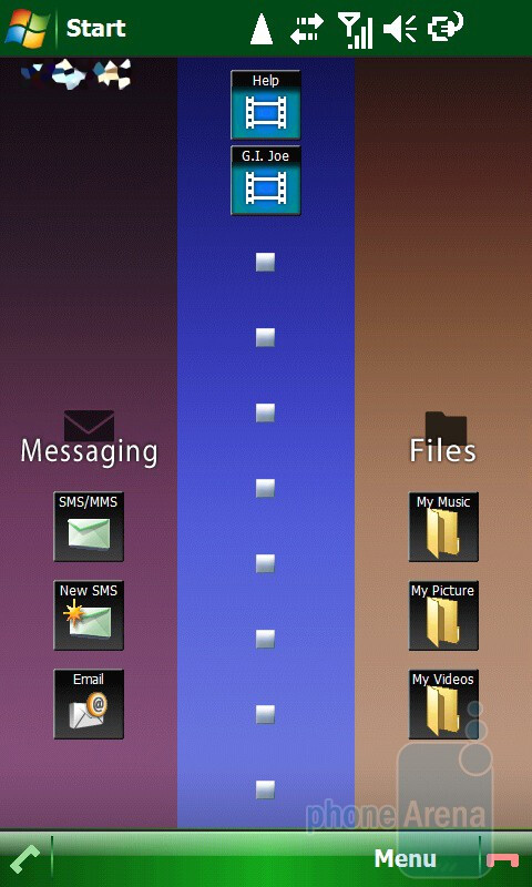 Toshiba TG01 offers a personalized home screen - 3D Menu. - Toshiba TG01 Review
