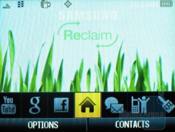 The Samsung Reclaim M560 runs Sprint's One Click UI - Samsung Reclaim M560 Review