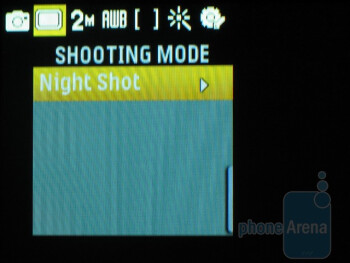 Camera interface - Samsung Reclaim M560 Review