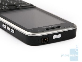The left and top sides of Nokia E55 - Nokia E55 Review