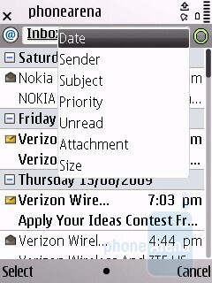The messaging menu stores all your text, multimedia and electronic messages - Nokia E55 Review