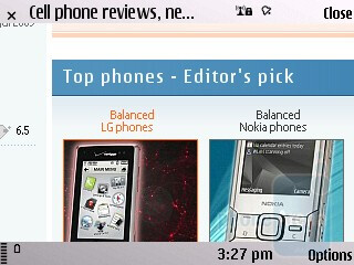 You connect to the Internet over 3G or via the built-in Wi-Fi - Nokia E55 Review