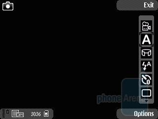The camera interface of Nokia E55 - Nokia E55 Review
