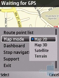 The built-in GPS is as fast as the E55´s - Nokia E52 Review