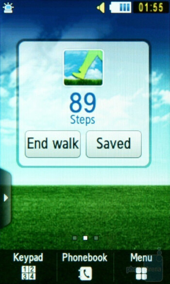 Eco walk widget - Samsung Blue Earth S7550 Preview