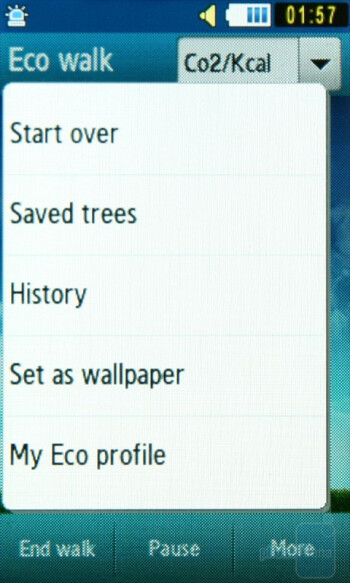 The program Eco walk of Samsung Blue Earth S7550 - Samsung Blue Earth S7550 Preview