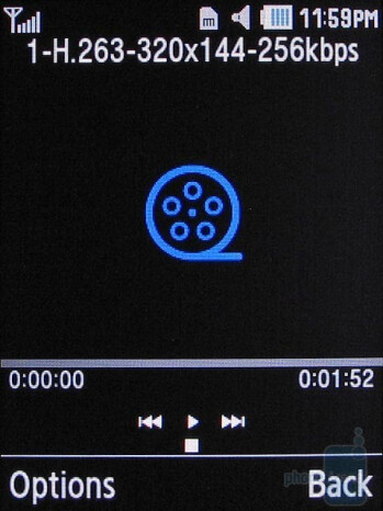 Video player - Samsung Gravity 2 T469 Review