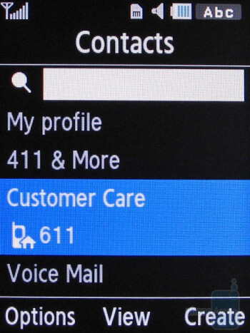 Samsung Gravity 2 is able to hold up to 1,000 contacts directly on the phone. - Samsung Gravity 2 T469 Review