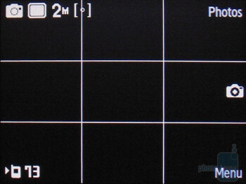 Camera interface - Samsung Gravity 2 T469 Review