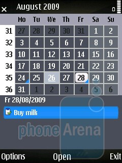 Calendar - Just like its predecessors, the Nokia 6710 Navigator is Symbian-based - Nokia 6710 Navigator Review