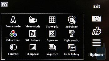 Camera interfce - Nokia 5530 XpressMusic Review