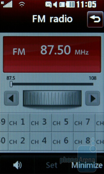 FM Radio - LG GT505 Review