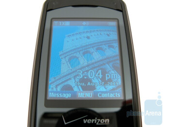 The main screen and keypad of the Verizon Wireless Escapade WP8990VW - Verizon Wireless Escapade WP8990VW Review