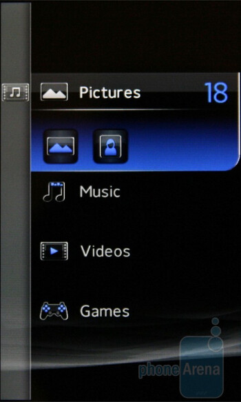 The presonalized submenus - Sony Ericsson XPERIA X2 Preview