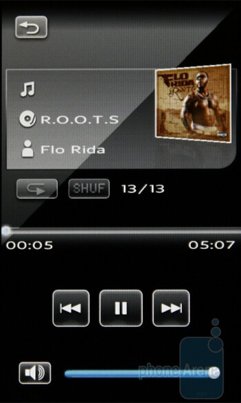 Music player - Sony Ericsson XPERIA X2 Preview