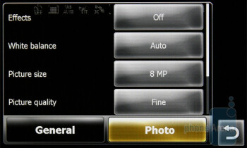 The camera interface of the Sony Ericsson XPERIA X2 - Sony Ericsson XPERIA X2 Preview