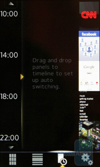 The preloaded panels of the Sony Ericsson XPERIA X2 - Sony Ericsson XPERIA X2 Preview