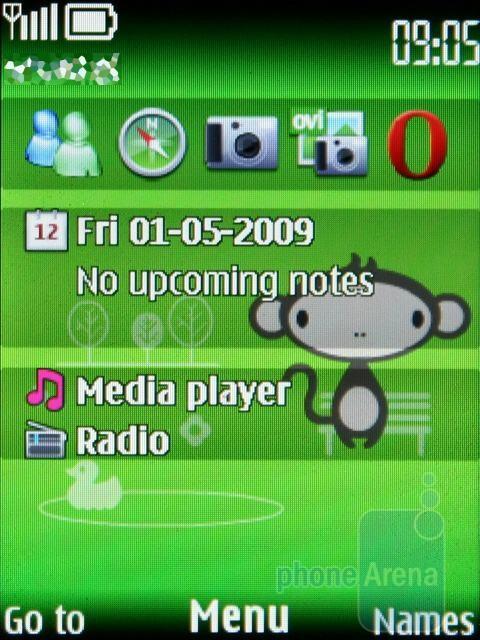Home screen - Nokia 3720 classic Review