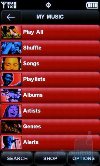 Music player - Samsung Rogue U960 Review
