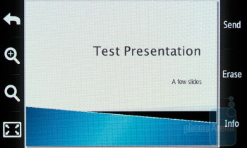 PowerPoint - Viewing office documents on the Samsung Rogue U960 - Samsung Rogue U960 Review