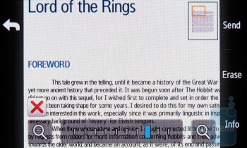 Word - Viewing office documents on the Samsung Rogue U960 - Samsung Rogue U960 Review
