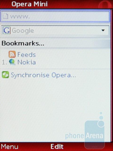 The Opera Mini browser - Nokia 3720 classic Review