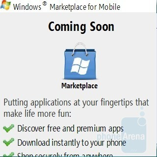 Marketplace for Mobile - Samsung OmniaPRO B7330 Preview
