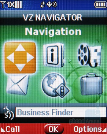 VZ Navigator - Samsung Intensity U450 Review