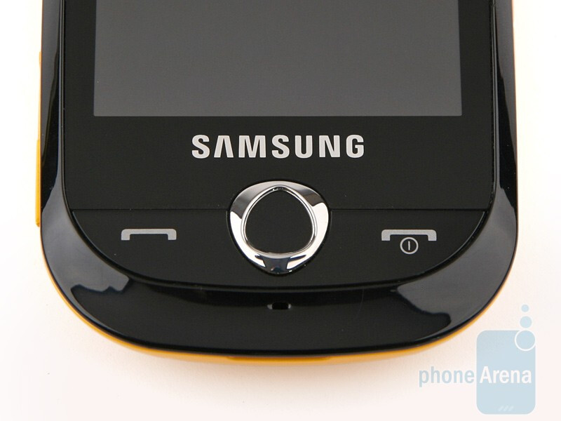 The hardware keys are located below the display - Samsung Corby S3650 Preview