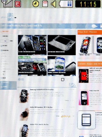 The Samsung Corby S3650 sports a pretty decent browser that loads heavier pages without a hitch - Samsung Corby S3650 Preview