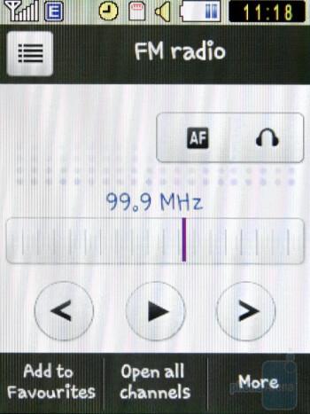 FM Radio - Samsung Corby S3650 Preview