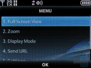 The HTML browser is a nice addition, but we didn't find it very user friendly - Nokia 7705 Twist Review