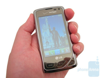 The entire LG Chocolate Touch VX8575 has a shiny mirror finish to it - LG Chocolate Touch VX8575 Preview