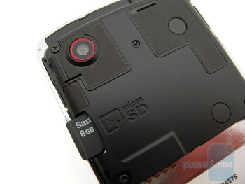 The microSD card slot is underthe battery cover - LG Chocolate Touch VX8575 Preview