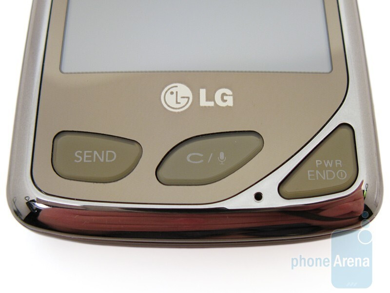 The oddly shaped hardware keys - LG Chocolate Touch VX8575 Preview