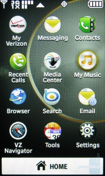 The Main Menu has two themes included - Hi-Fi and Shooting Star - LG Chocolate Touch VX8575 Preview