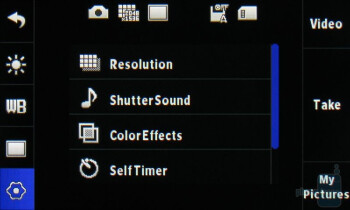 Camera interface - LG Chocolate Touch VX8575 Preview