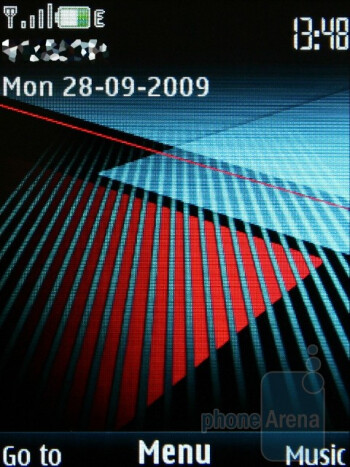 Home screen - The Nokia 5130 XpressMusic runs the fast and handy Series 40 interface - Nokia 5130 XpressMusic Review