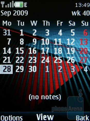 Calendar - The Nokia 5130 XpressMusic runs the fast and handy Series 40 interface - Nokia 5130 XpressMusic Review