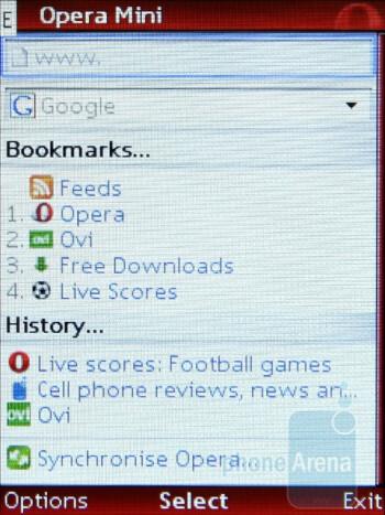 Opera Mini - Opera Mini opens complex pages pretty fast, even on EDGE - Nokia 5130 XpressMusic Review