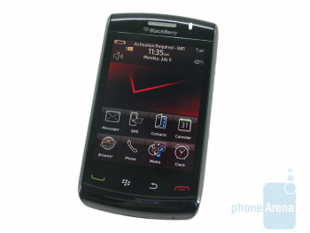 The multiple input sensors of the RIM BlackBerry Storm2 9550 make typing much more accurate - RIM BlackBerry Storm2 9550 Preview
