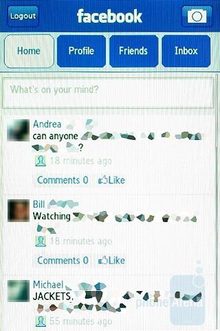 Faceebook and Twitter - Samsung Instinct HD Review
