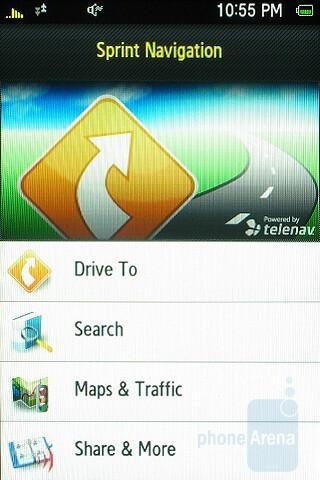 Sprint Navigation - Samsung Instinct HD Review