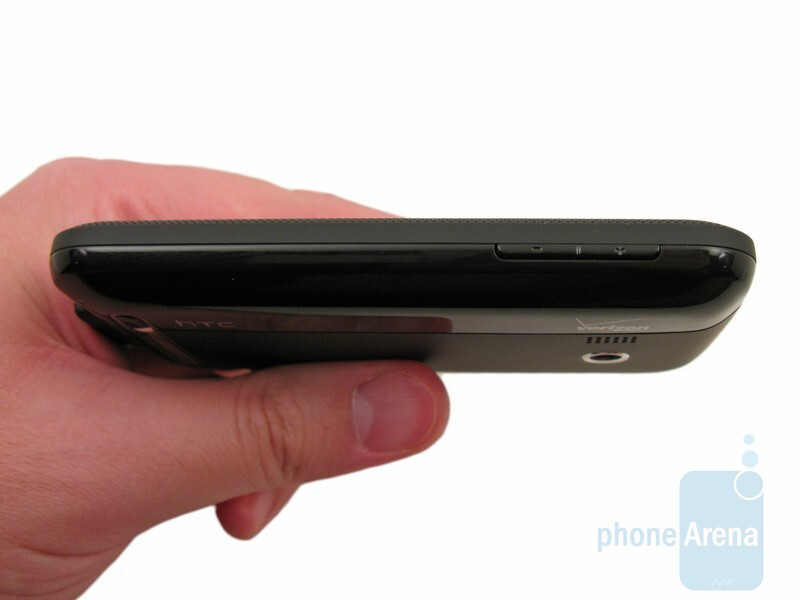 Right side - The bottom and top sides of HTC Imagio XV6975 - HTC Imagio XV6975 Review