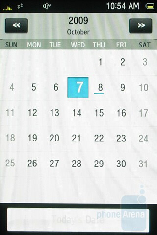 The calendar of Samsung Instict HD is relatively basic - Samsung Instinct HD Review