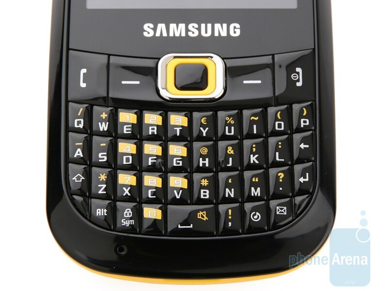 The keyboard buttons are small, but with a specific form - Samsung CorbyPRO B5310 & CorbyTXT B3210 Preview