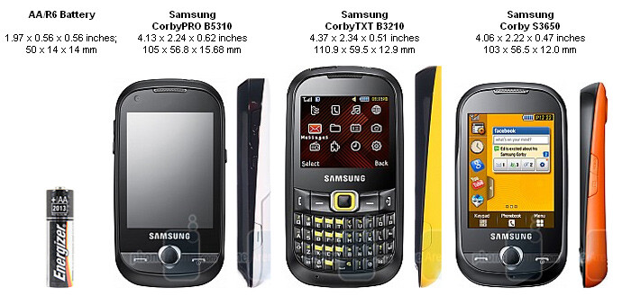 Samsung CorbyPRO B5310 & CorbyTXT B3210 Preview
