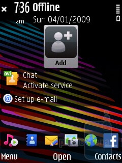 The Home screen - Nokia 5730 XpressMusic Review