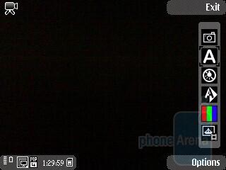 The camera interface of the Nokia 5730 XpressMusic - Nokia 5730 XpressMusic Review